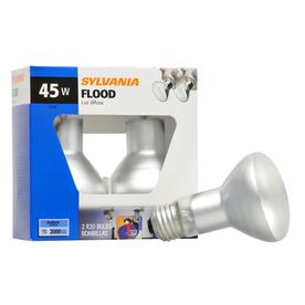 SYLVANIA 2-Pack 45-Watt R20 Medium Base Soft White Dimmable Indoor Incandescent Flood Light Bulbs