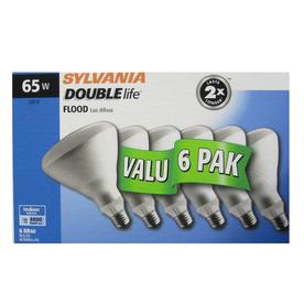 SYLVANIA 6-Pack 65-Watt BR40 Medium Base (E-26) Soft White Dimmable Incandescent Flood Light Bulbs