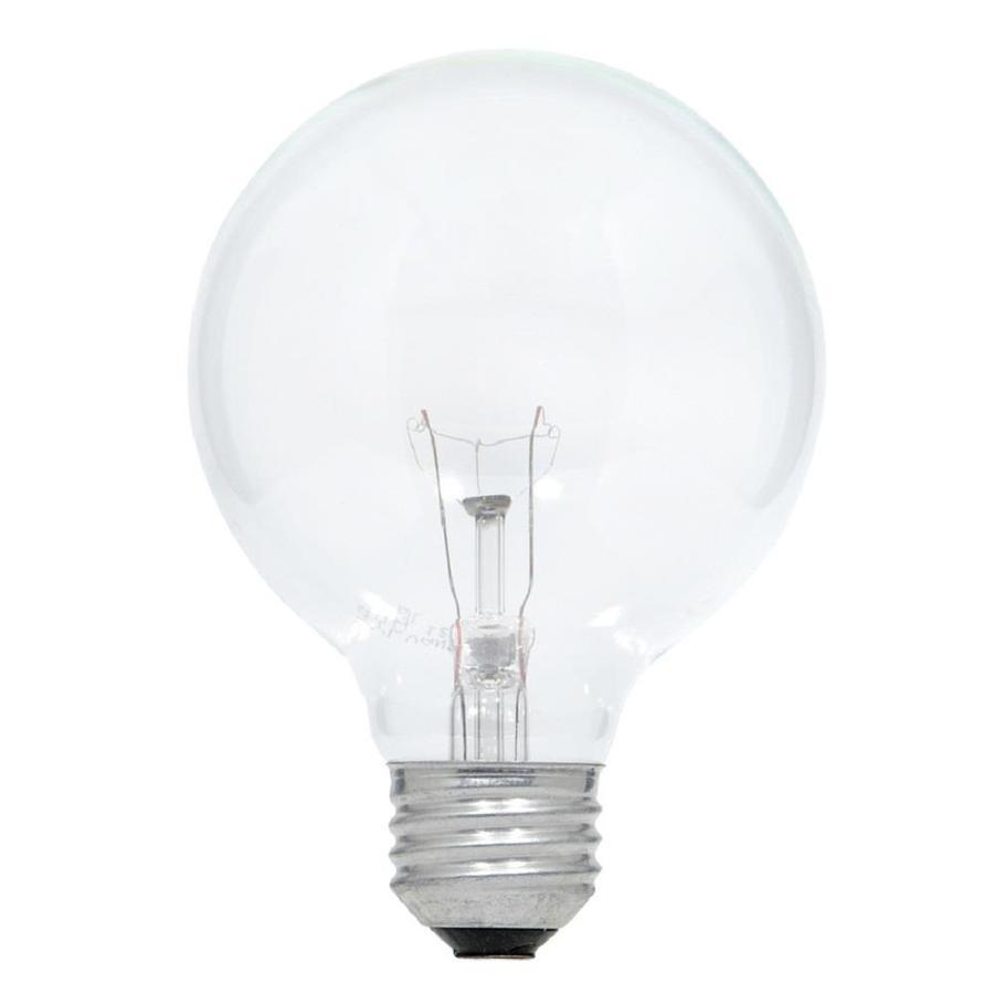 shop sylvania 3 pack 25 watt medium base soft white dimmable decorative incandescent light bulbs