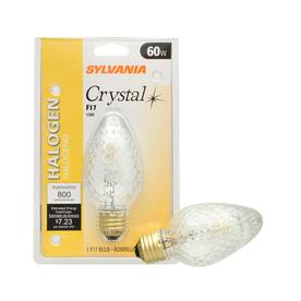 SYLVANIA 60-Watt F Medium Base (E-26) Soft White Dimmable Decorative Halogen Light Bulb