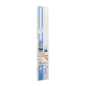 SYLVANIA 12-Pack 32-Watt 4,100K Cool White Dimmable Fluorescent Tube Light Bulbs (Common: 48-in; Actual: 47.78-in)