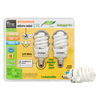 SYLVANIA 2-Pack 13-Watt (60W Equivalent) 2,700K Spiral Candelabra Base (E-12) Soft White CFL Bulb ENERGY STAR
