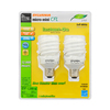 SYLVANIA 2-Pack 20-Watt (75W) Spiral Medium Base Soft White (2700K) CFL Bulbs ENERGY STAR
