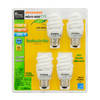 SYLVANIA 4-Pack 13-Watt (60W) Spiral Medium Base Soft White (2700K) CFL Bulbs ENERGY STAR