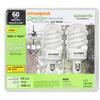 SYLVANIA 2-Pack 13-Watt (60W) Spiral Candelabra Base Soft White (2700K) CFL Bulbs ENERGY STAR