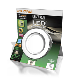 SYLVANIA 4-in White Dimmable LED Recessed Can Downlight Kit