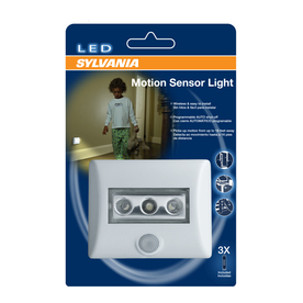 SYLVANIA White LED Night Light with Motion Sensor and Auto On/Off