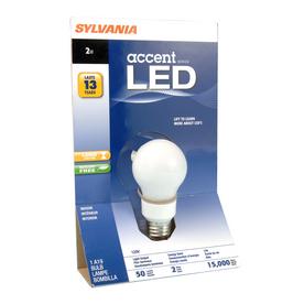 SYLVANIA 2-Watt (10W Equivalent) A19 LED Base Soft White LED Bulb