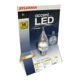 SYLVANIA 2-Watt (15W Equivalent) Warm White Decorative LED Light Bulb