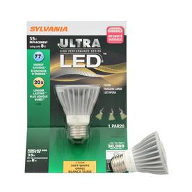 SYLVANIA 8-Watt (35W) PAR20 Medium Base Soft White Outdoor LED Flood Light Bulb ENERGY STAR