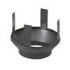 SuperVent 20.5-in Black Round Steel Chimney Ceiling Plate