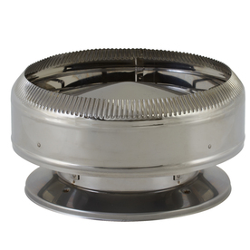 SuperVent 8-in W x 4.5-in L Stainless Steel Round Chimney Cap