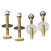 Plumb Pak 2-1/2-in L Polished Brass Floor Bolts and Screws Set
