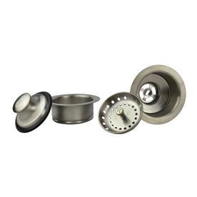 Plumb Pak 4-1/2-in dia Brushed Nickel Stopper Sink Strainer