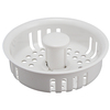 Keeney Mfg. Co. 4-in dia White Fixed Post Replacement Basket