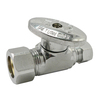 Plumb Pak Chrome Quarter-Turn Straight Valve