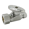 Keeney Mfg. Co. Chrome Quarter Turn Straight Valve