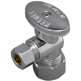 Plumb Pak Chrome Quarter-Turn Angle Valve