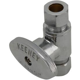 Keeney Mfg. Co. Chrome Quarter-Turn Straight Valve