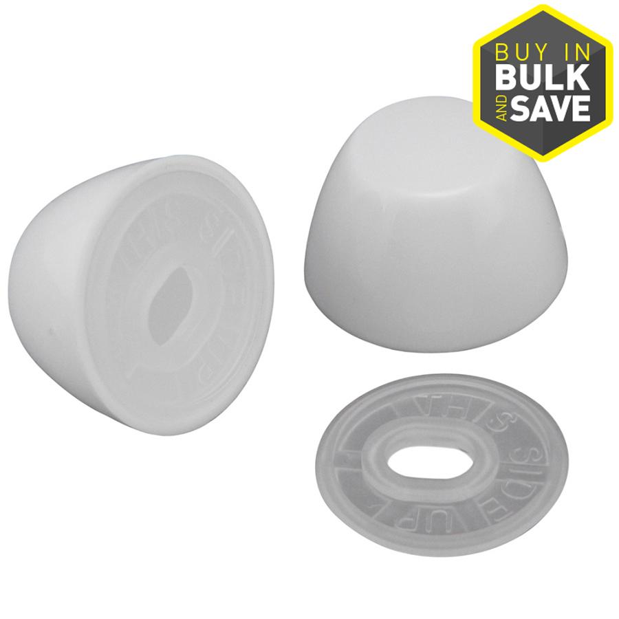 Shop Plumb Pak Round White Push On Toilet Bolt Caps At