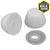 Plumb Pak Round White Push On Toilet Bolt Caps