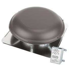 Air Vent 1,320-CFM Weatherwood Galvanized Steel Electric Power Roof Vent