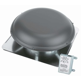 Shop Air Vent 1 500 CFM Weatherwood Galvanized Steel Electric Power Roof Vent