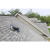 Air Vent 1,500-CFM Black Galvanized Steel Electric Power Roof Vent