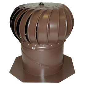 Air Vent 12-in Brown Aluminum Wind Turbine