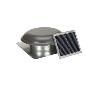 Air Vent 800-CFM Weatherwood Galvanized Steel Solar Power Roof Vent