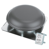 Blue Hawk 1,320-CFM Weatherwood Galvanized Steel Electric Power Roof Vent