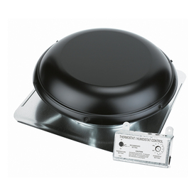 Blue Hawk 1,500-CFM Black Galvanized Steel Electric Power Roof Vent