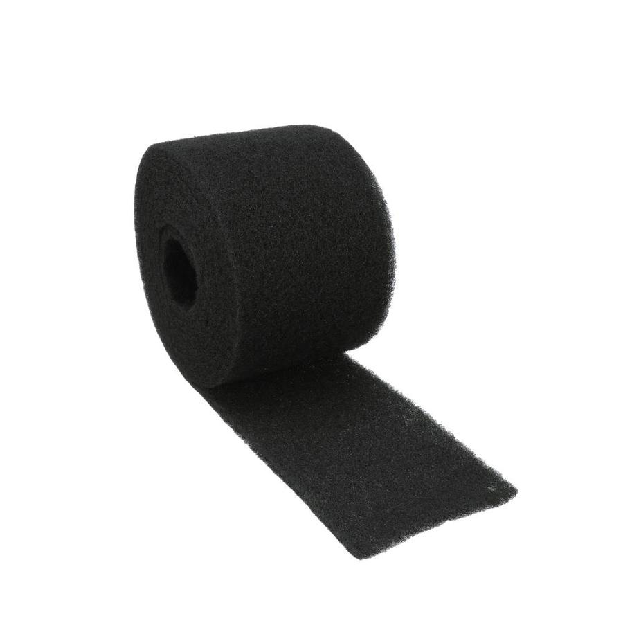 Shop air vent 10 5 in x 20 ft black plastic roll roof for Off ridge vents