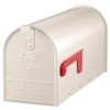 PostMaster 6-7/8-in x 8-3/4-in Metal White Post Mount Mailbox