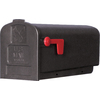 PostMaster 7.895-in x 9.575-in Plastic Black Post Mount Mailbox