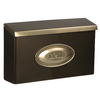 PostMaster 16-1/4-in x 10-in Metal Venetian Bronze Lockable Wall Mount Mailbox