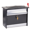 MAILSAFE 16.875-in x 13.375-in Metal Black/Brushed Aluminum Lockable Wall Mount Mailbox