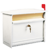 MAILSAFE 16-7/8-in x 13-3/8-in Metal White Lockable Wall Mount Mailbox