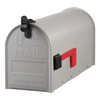 PostMaster 7-in x 9-in Metal Gray Post Mount Mailbox