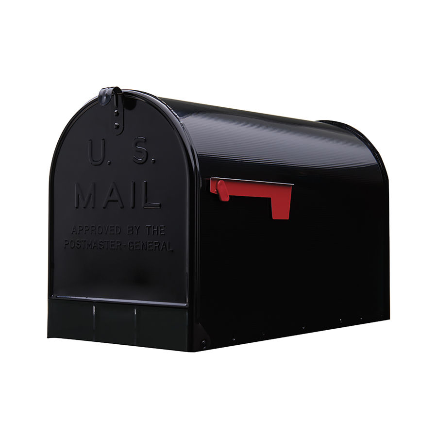 Postmaster Mailbox Post: Shop PostMaster 11.125-in X 15-in Metal Black Post Mount