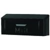 TOWNHOUSE 15.25-in x 6.75-in Metal Black Wall Mount Mailbox