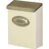 PostMaster 9-5/8-in x 12-1/2-in Metal Navajo White Lockable Wall Mount Mailbox