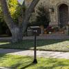 PostMaster Black Aluminum Mailbox Post