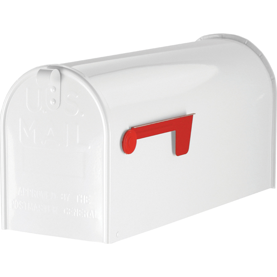 Postmaster Mailbox Post: Shop PostMaster 8.75-in X 11-in Metal White Post Mount