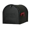 PostMaster 11.75-in x 12-in Metal Black Lockable Post Mount Mailbox