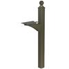 PostMaster Textured Bronze Steel Mailbox Post