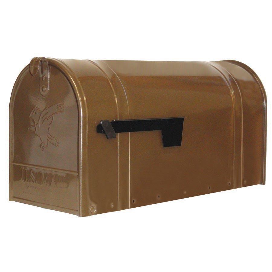 Postmaster Mailbox Post: Shop PostMaster 8.75-in X 11-in Metal Bronze Post Mount