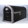 PostMaster Brunswick 9.375-in x 11-in Metal Black Post Mount Mailbox