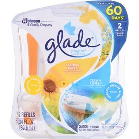 Glade 2-Pack 1.34-oz Clean Linen and Sunny Days Electric Air Freshener Refills