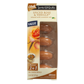 Glade 4-Pack Spiced Rose &amp; Vanilla Candle Refills